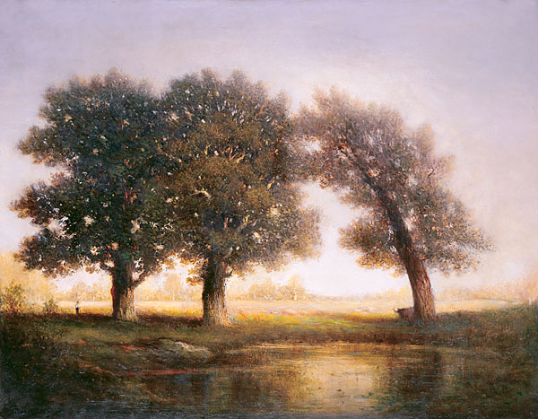 Fontainebleau (Three Trees) painting