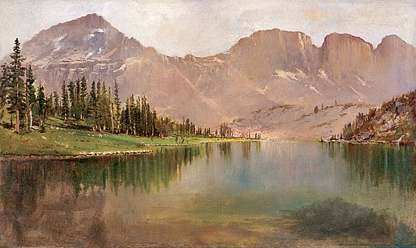 Lake Lal and Mount Agassiz painting