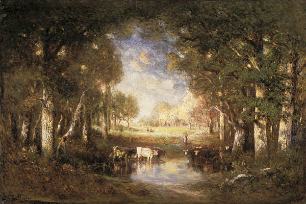 Pastoral Scene (Fontainebleau) painting