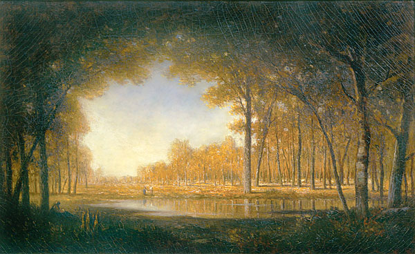 Forest at Fontainebleau painting